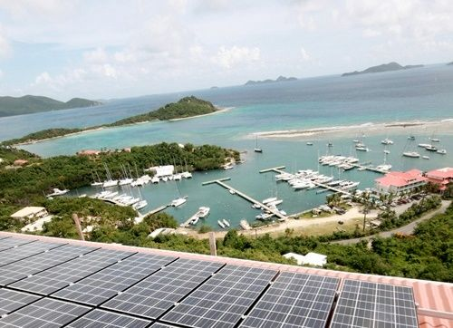 Example of a BVI Property using Solar Energy