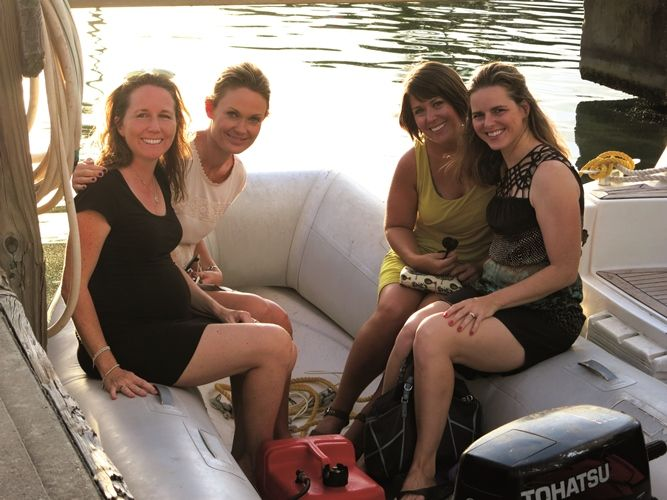 Girls take a Grand BVI Charter Boat - Kelly and friends