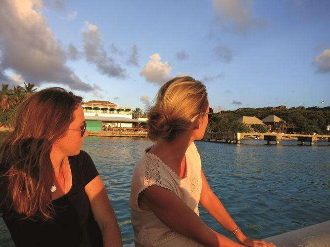 Girls take a Grand BVI Charter Boat