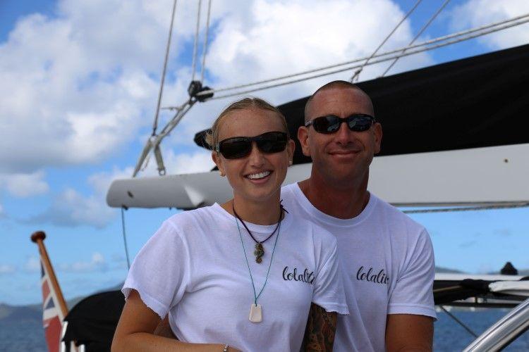 Captain Ernie and Chef Megan Schlobohm