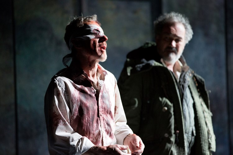 10. Gloucester (Stephen Boxer) and Old Man (Colin Haigh). Photo by Mark Douet.