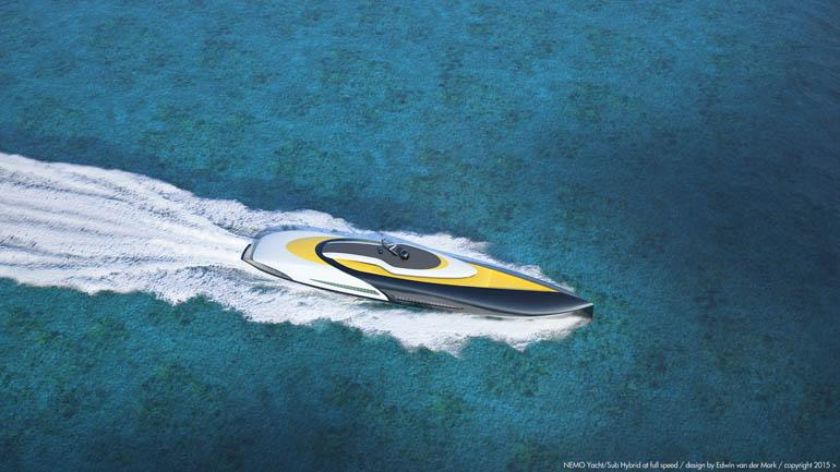 NEMO Yacht Sub Hybrid Full submersible topview